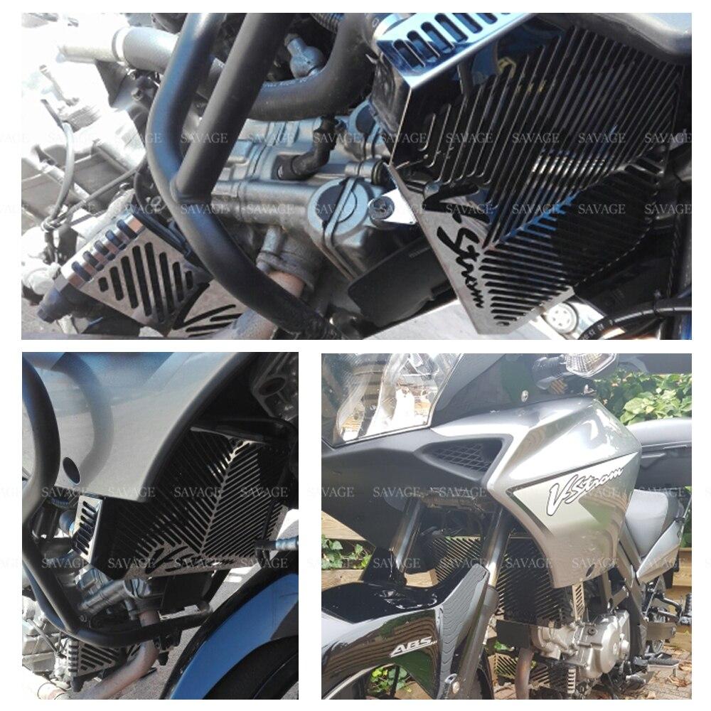 Protecteur de refroidisseur d'huile de garde de Grille de radiateur pour SUZUKI DL650 DL 650 v strom 2004 2010 05 06 07 08 Protection de réservoir de carburant de moto - 4