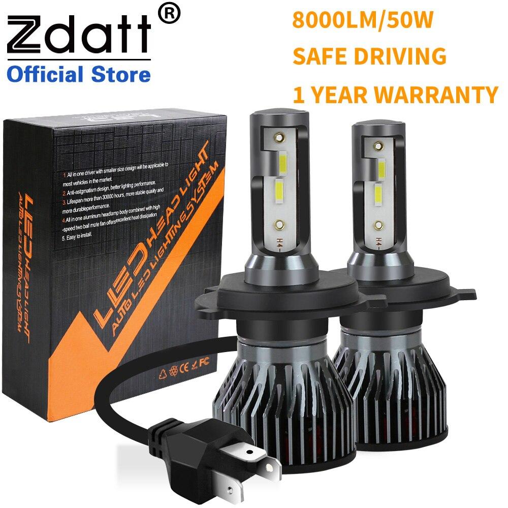 2 adet Zdatt Led lamba H1 HB3 HB4 H8 H9 H11 H4 H7 araba LED far lambaları 6000K 12V Turbo otomatik sis farları 12 Csp cips