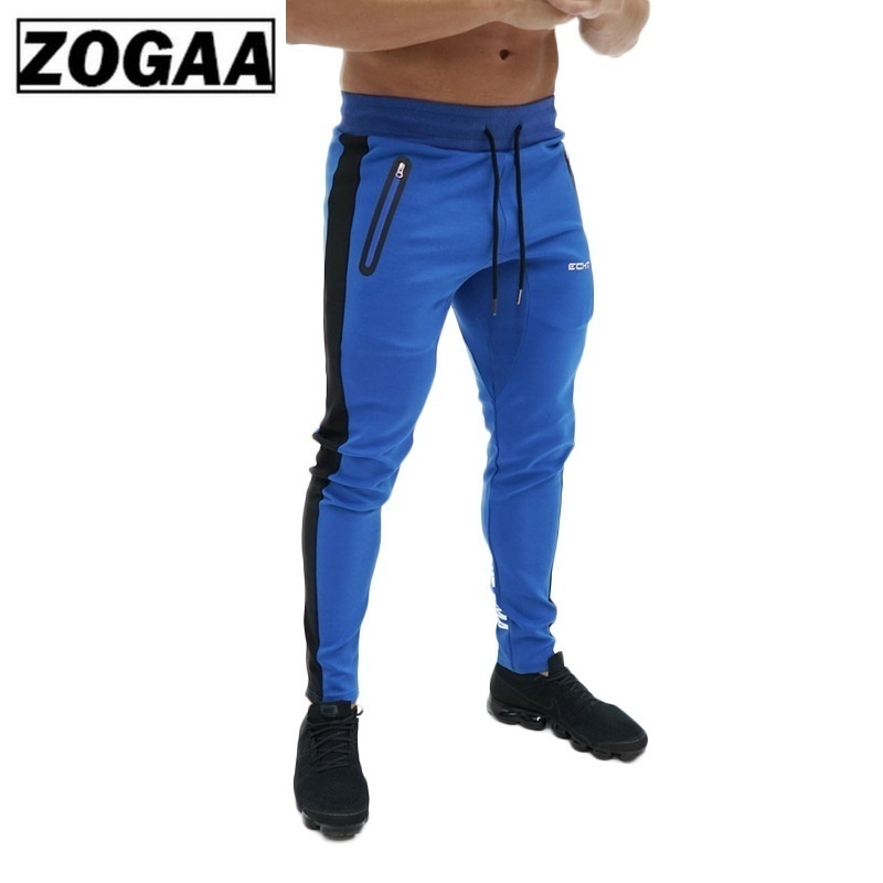 ZOGAA New Mens Fitness Pants Full Length Casual Slim Running Training Trousers Sport Sweatpants Men Joggers in Skinny Pants from Men 39 s Clothing