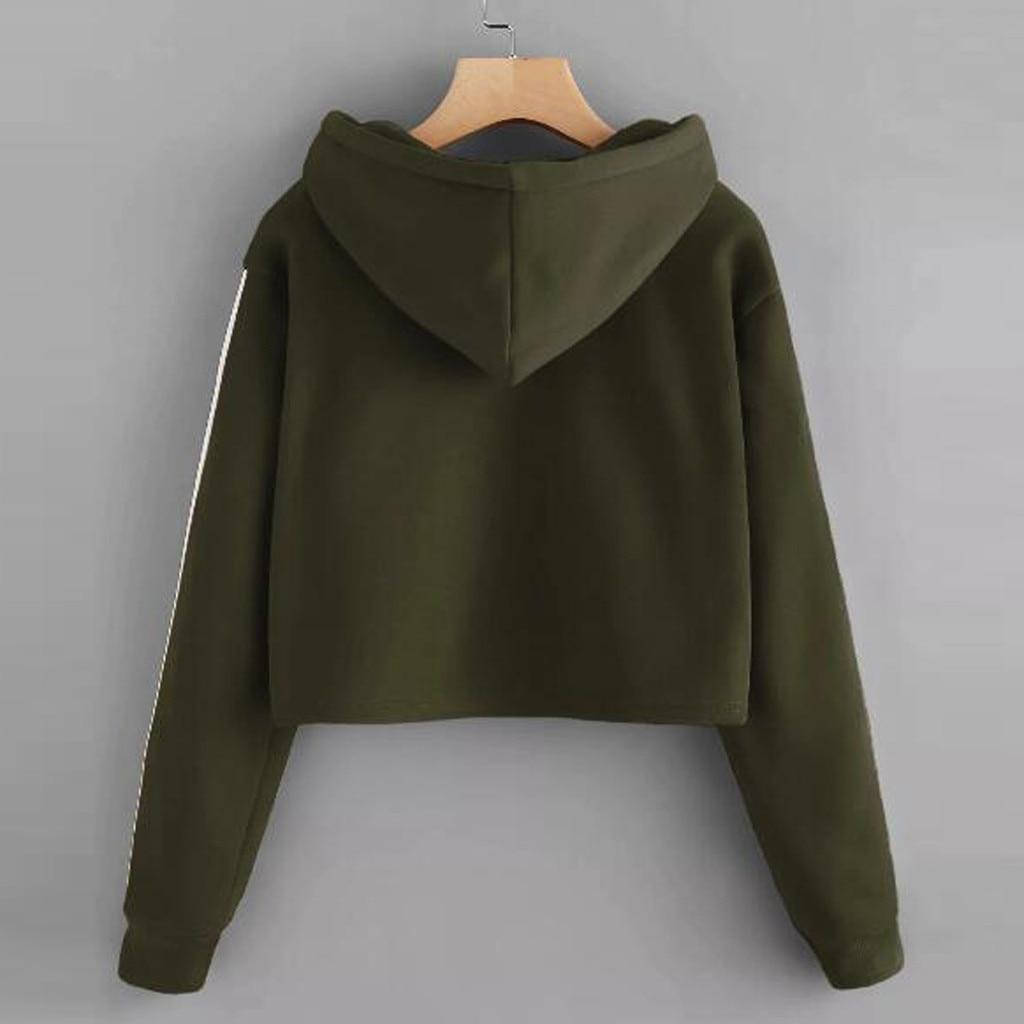 Lace Up Back Harajuku Hoodie Sweatshirt Women Long Sleeve Hoodie Pullovers O-Neck Casual Loose Tops