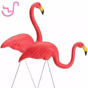 Home Yard Garden Lawn Art Ornaments Decoration Plastic Pink Flamingo Statue