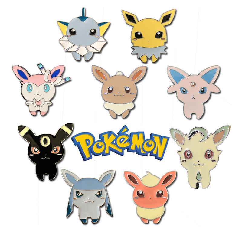 Pokemon Go Eevee Costumes Badge Brooch Anime Cosplay Collection Backpack Pin Halloween Gift