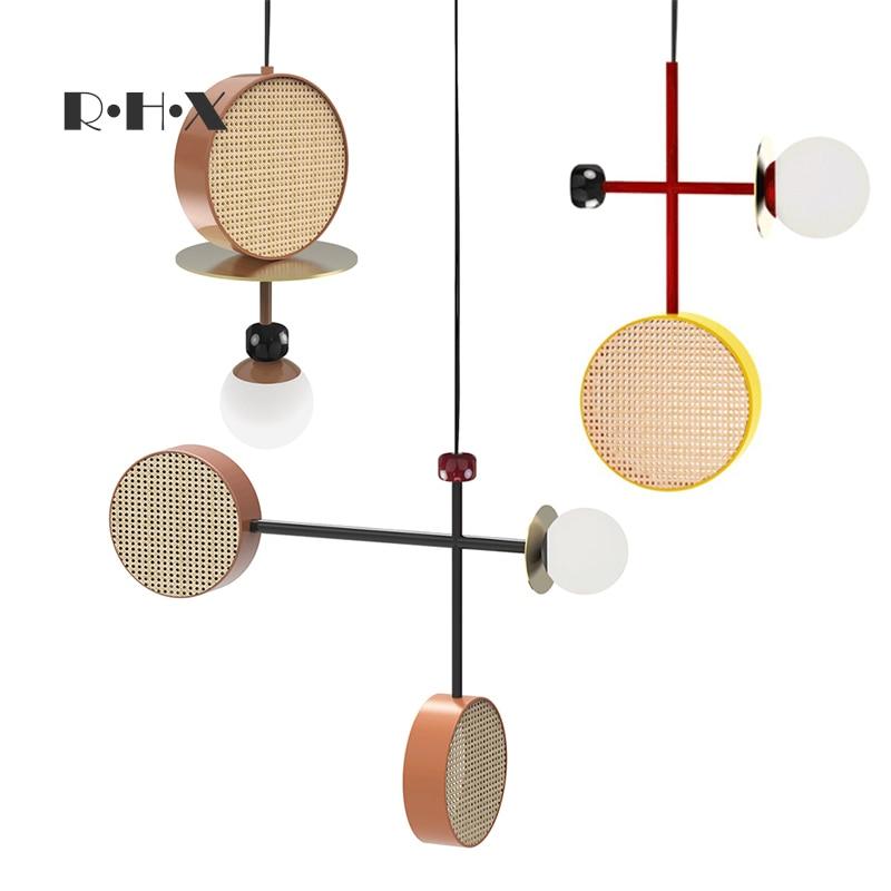 Japan Wood Home Decoration E27 Light Fixture  Living Room  LED  Pendant Lights Hanging Lamp Industrial Lamp Hanglamp