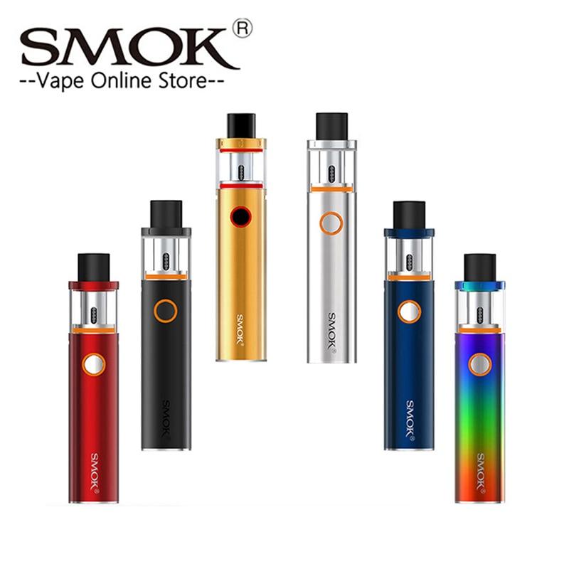 SMOK Tanque Vape Pen Kit Caneta Vape 22 22 0.3ohm Dual Core com Bateria de 1650mah com Indicador LED cigarro eletrônico