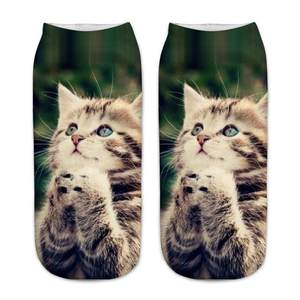 Girls Socks Printed Teenagers Boy Kids Children Short Knee-Cushions New 3d Cat Ankle
