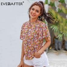 Женская винтажная блузка everafter с цветочным принтом и стоячим