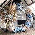 160pcs Macaron воздушные шары-гирлянды арочный комплект Кофе серого синего цвета на свадьбу и День рождения Baby Shower Юбилей День Святого Валентина в...