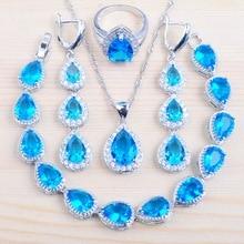 Jewelry-Set Costume Necklace Earrings Pendant Crystal Women Bracelet Silver-Color