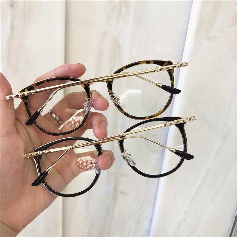 1pcs Retro Anti Blue Ray Computer Glasses Women Round Eye Glass Men Blue Light Blocking Fashion Eyewear Optical Frames