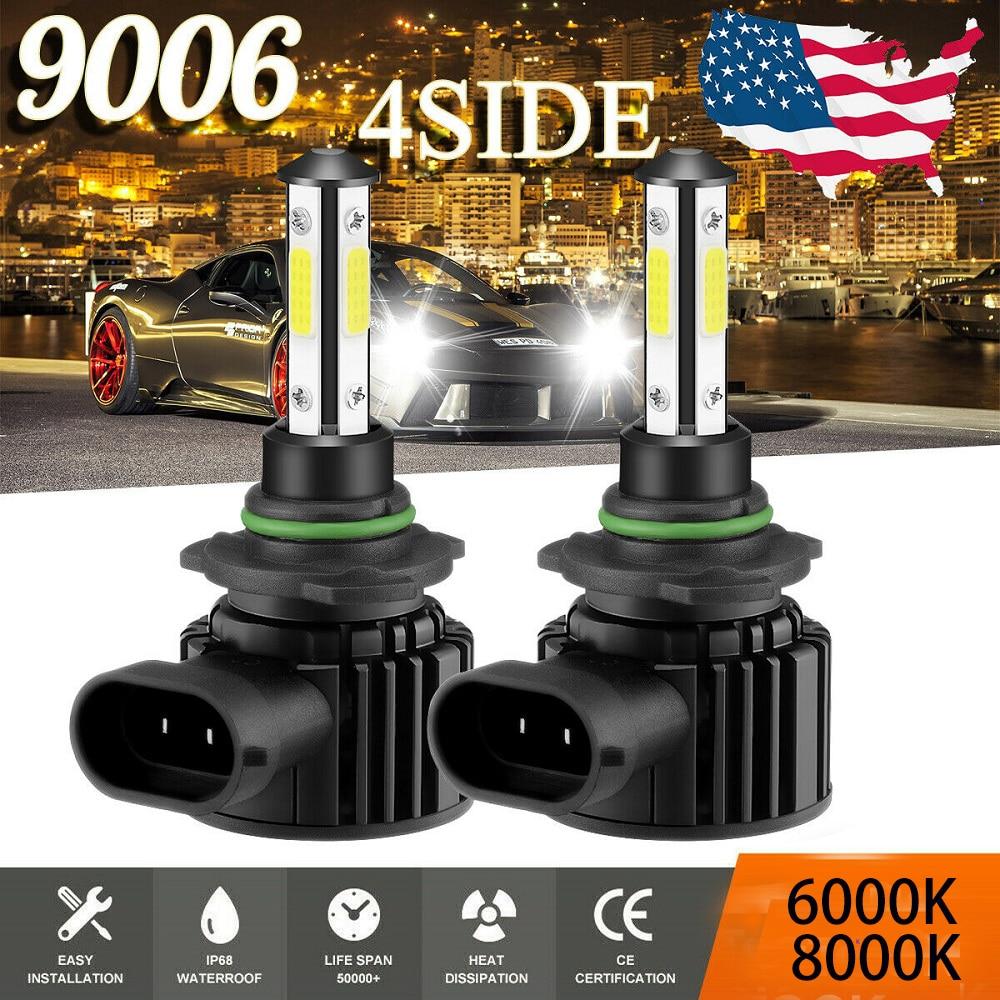 2PCS CarTnT Super Bright Car Headlight Bulbs H7 LED H9 HB3 9005 HB4 9006 H11 H8 LED Headlight 100W 20000LM 6000K 12V 8000K Lamp