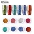 Розалинд ногти сверкающие блестки для ногтей УФ хром голографическая дизайн ногтей искусство пигмент зеркальный порошок гель для ногтей м...