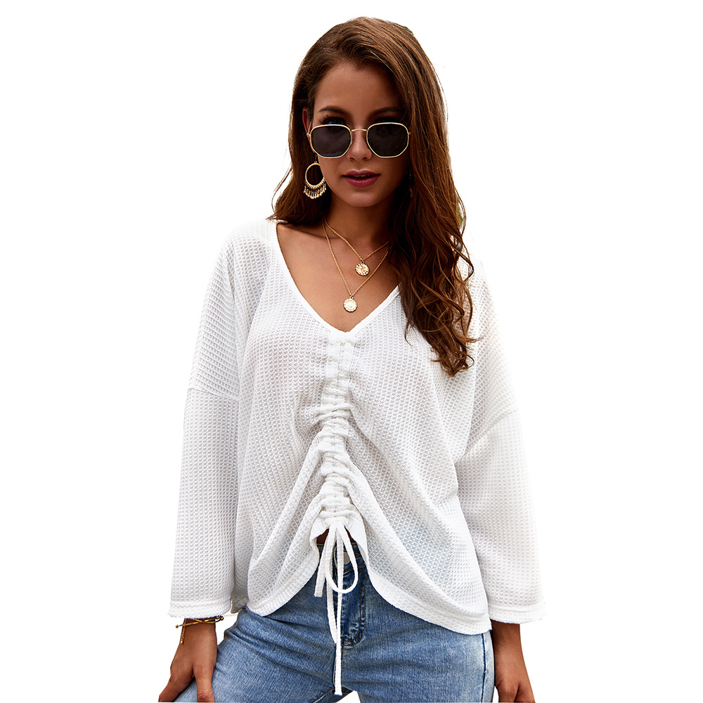 harajuku pullover knitted sweater women 2019 Autumn Winter v neck oversized white black sweater women 39 s knitwear femme clothes in Pullovers from Women 39 s Clothing