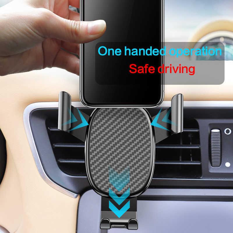 Гравитационный Автомобильный держатель для телефона для iPhone 11 X samsung Air Vent, автомобильный держатель для телефона, подставка для мобильного телефона huawei Xiaomi
