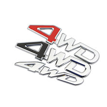 Daefar Universal Car Styling 3D Metal Sticker 4WD Chrome Vehicle Tailgate Trunk Lid Emblem Badge Decal