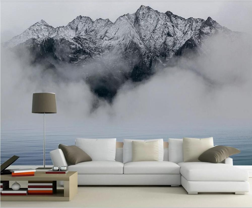 Custom Large-scale Mural Wallpaper Wall Covering New Chinese Ink Landscape Landscape Simple TV Background Wall