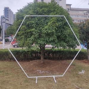 Image 4 - Đám Cưới Đạo Cụ Lục Giác Đồng Hồ Nam Sắt Vòm Khung Nền Trang Trí Đám Cưới Giai Đoạn Khung Sắt Cưới Sinh Nhật Tiếp Liệu