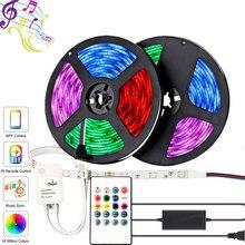 5 м 10 rgb 5050 Светодиодный светильник музыкальная синхронизация