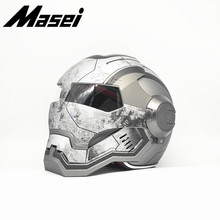 Masei  War Machine Matt Gray Mens   IRONMAN Iron Man helmet motorcycle helmet half helmet open face helmet  ABS casque motocross masei 610 top abs moto biker helmet ktm iron man personality special fashion half open face motocross helmet matt black