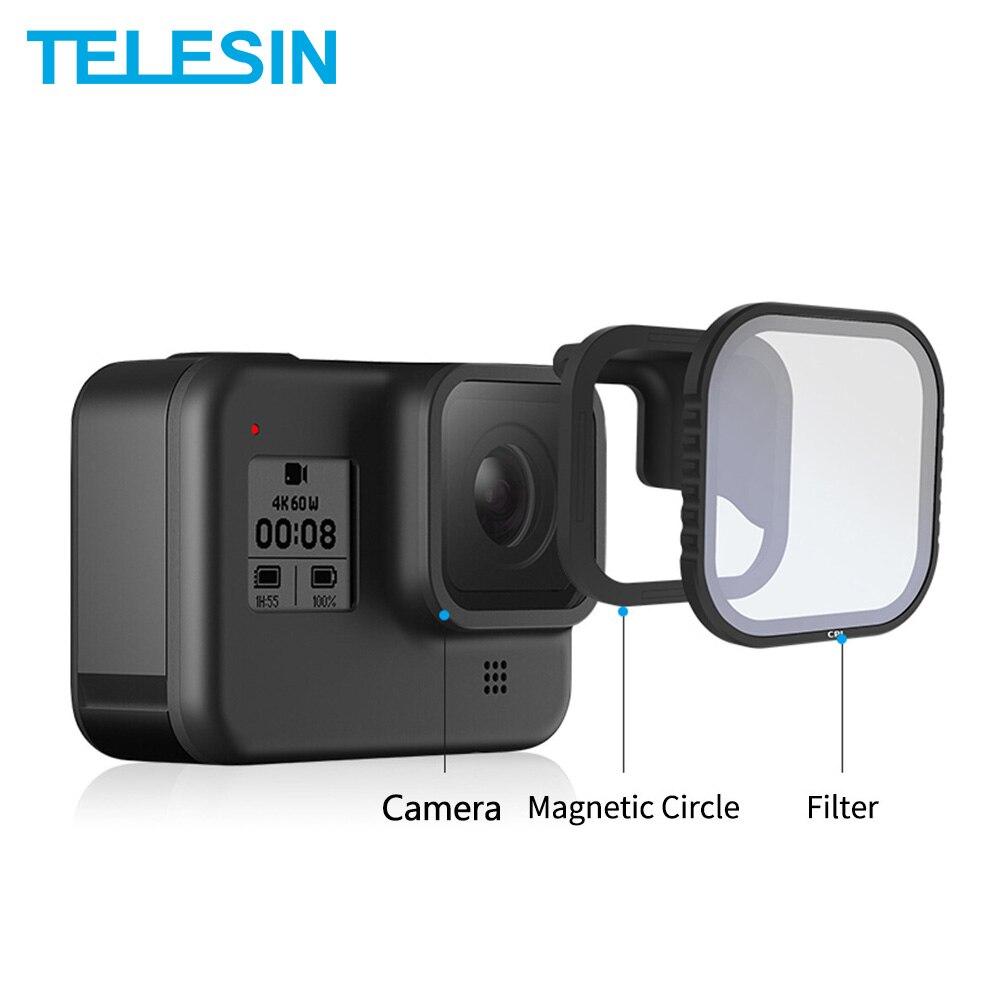TELESIN 4 paquete ND8 ND16 ND32 CPL conjunto de filtro magnético Protector de lente ND CPL filtro para Gopro Hero 8 accesorios de lente de cámara de acción 5 uds. Taza Cápsula de café rellenable de plástico 200 veces reutilizable Compatible con Nescafe Dolce Gusto cestas de filtro Venta caliente