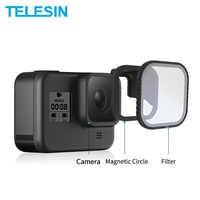 TELESIN 4Pack ND8 ND16 ND32 CPL Magnetische Filter Set Objektiv Protector ND CPL Filter für Gopro Hero 8 Action kamera Objektiv Accessoreis