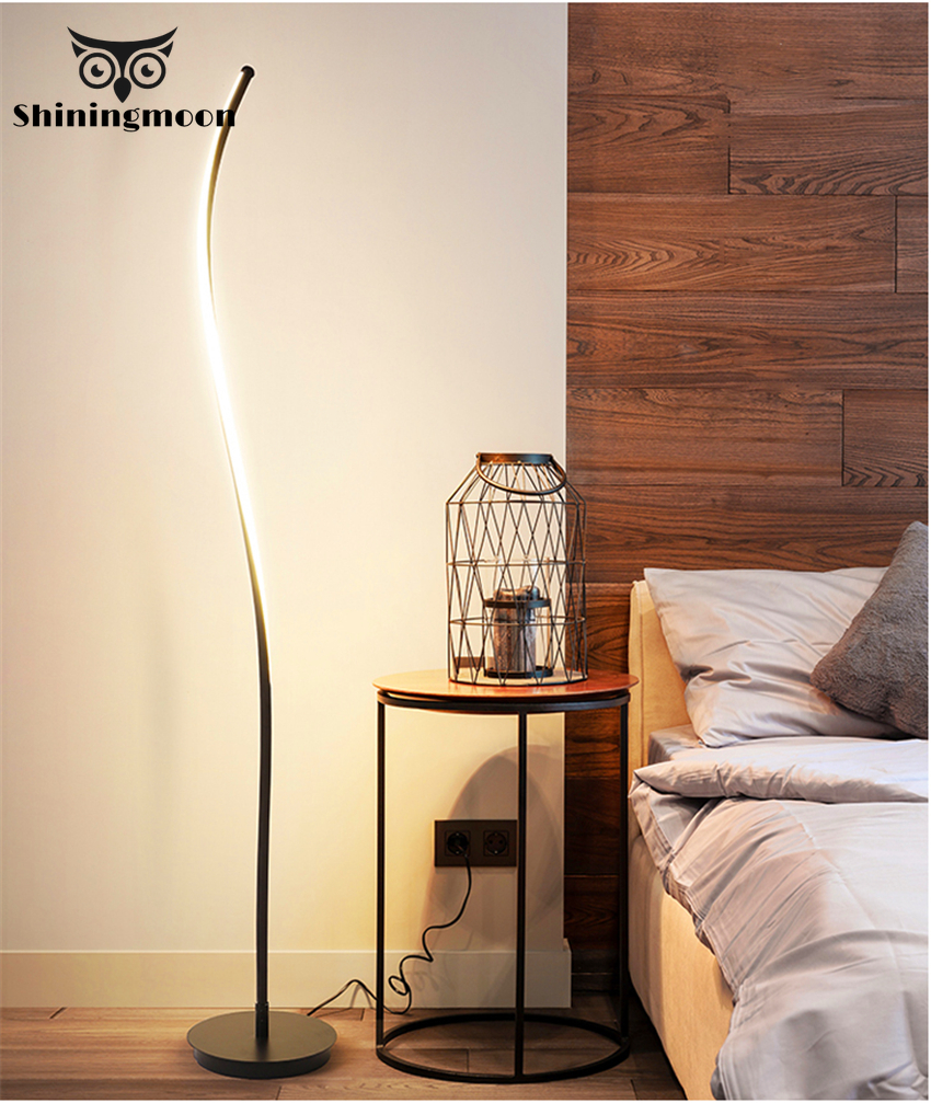Modern LED Floor Lamps European Art Lamp for Home 100-240V Free Standing Living Room Office Lighting
