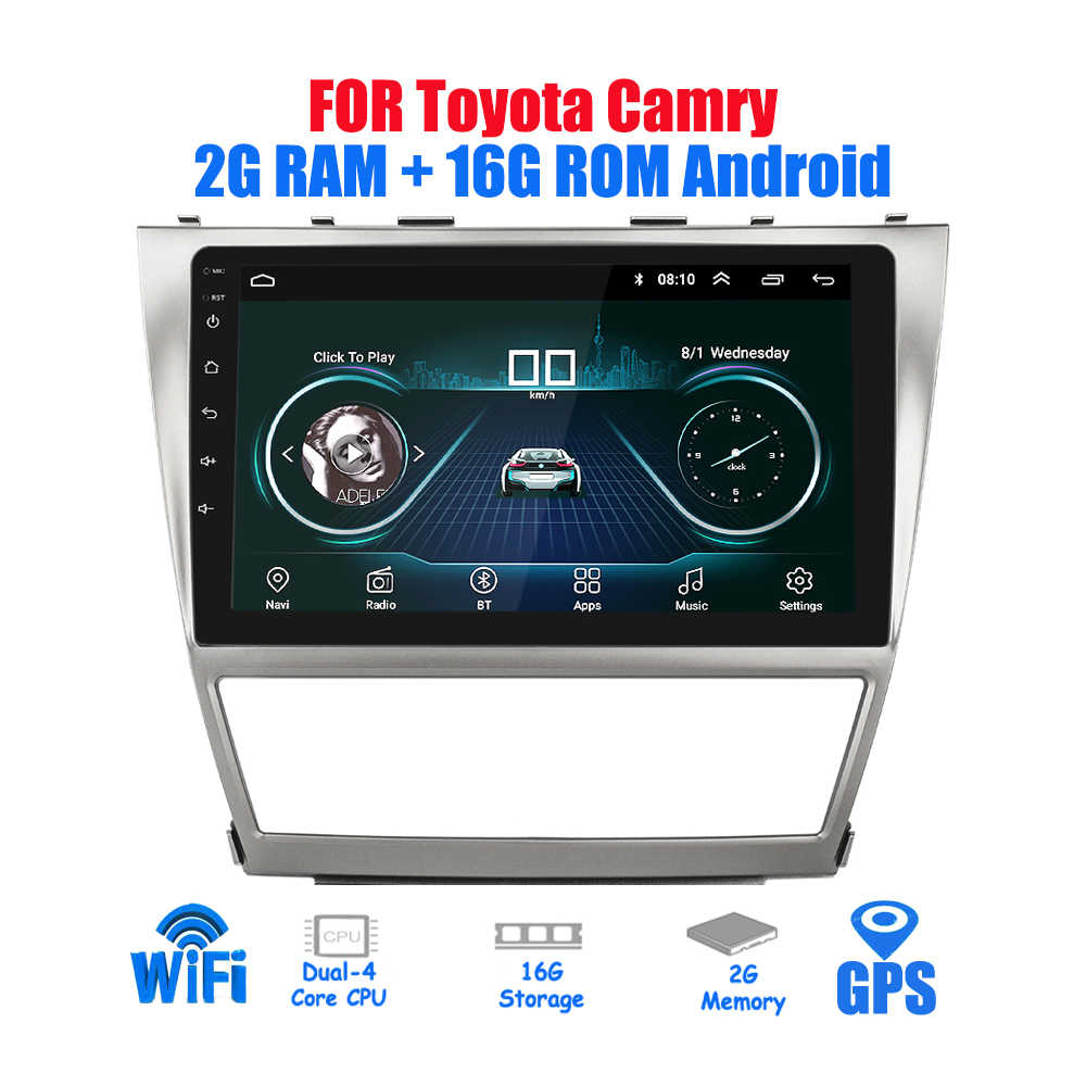 10.2 ''Android 2din Mobil Radio untuk Toyota Camry 2007 ~ 2011 Gps Navigasi Stereo Audio Video Multimedia DVD Player WIFI Bluetooth
