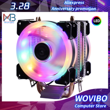 Wydajne chłodzenie wentylator do procesora 3pin dla Intel LGA 1150 1151 1155 1156 775 1200 AMD AM3 AM4 cichy wentylator wentylator wentylator cichy chłodnicy tanie tanio Wovibo NONE CN (pochodzenie) LGA 115X 775 Intel I3 I5 I7 Xeon Series 2 5 W Łożysko olejowe 50 000 godzin 2000±10 RPM