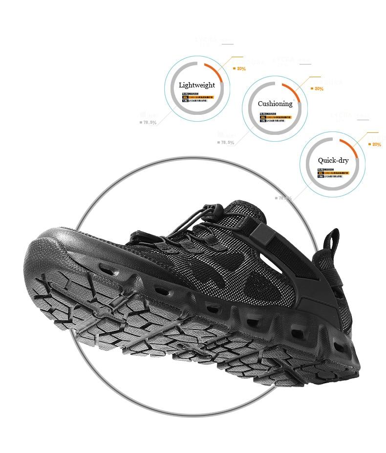 tático água aqua sapatos tênis para trilha