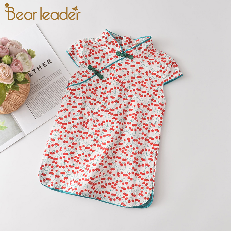 Bear Leader Girls Casual Dresses 2021 New Fashion Kids Chinese Style Clothes Baby Girl Party Outfits Flowers Clothing 2 8 Years 1
