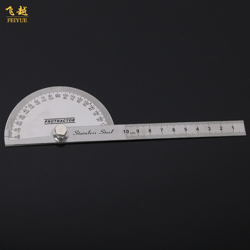 Single-Arm Stainless Steel Angle Ruler Woodworking Design Compasses Measuring Ruler Architecture Mapping Angle Ruler Protractor