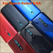 New Back Battery For Xiaomi Redmi 8/8A Spare Parts Cover Door Housing + Side Buttons Rear Housing Cover Black Free Shipping
