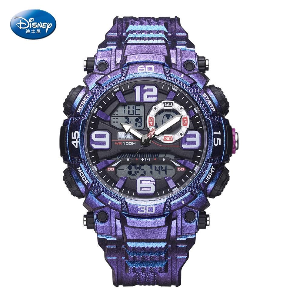 Disney Marvel Waterproof Multifunctional Sports Watch 10bar Men's Watch Trend Personality Electronic Watch Men Gifts Plastic
