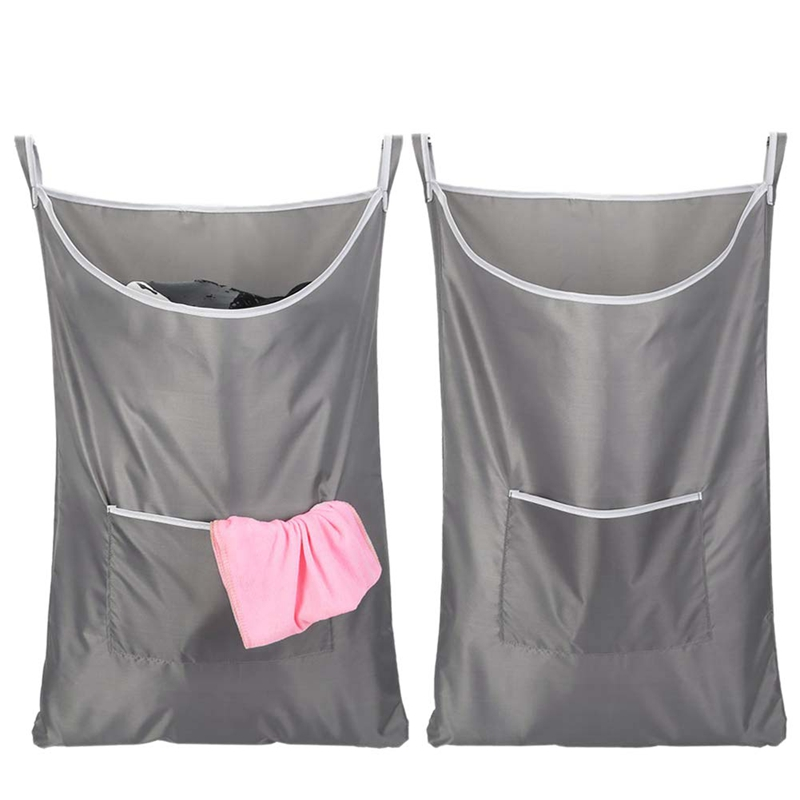 2 Pack Laundry Hamper  Zip Laundry Hamper Door Hanging with Stainless Steel Hooks  Oxford Fabric Door Laundry Hamper Extra Large|Laundry Baskets| |  - title=