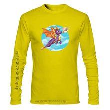 Männer T Shirt Aquarell Spyro Kindheit Hero Kunstwerk Zeichnung Gedruckt T