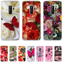 Phone Case TPU For Samsung A5 A6 A7 A8 A9 A10 A20 A30 A40 A50 A60 A70 Cover Red Blank Roses Flower Cover(China)