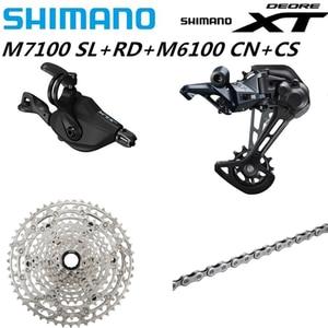 Image 4 - シマノdeore xt M8100 M7100 M6100 M9100 12sグループセットmtbマウンテンバイクsl + rd + cs + hg m8100シフターリアディレイラーチェーンカセット