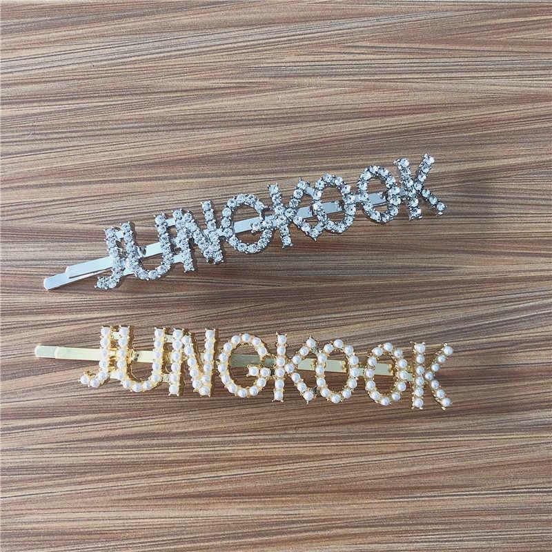 Nova moda pinos de cabelo jhope jung kook hairpin jóias de cabelo bandana jóias de cabelo bangtan meninos acessórios presente