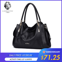 LAORENTOU Women's Bags Genuine Leather Luxury Handbag Valentine's Day Gift Ladies Casual Tote Purse Fashion Shoulder Bags