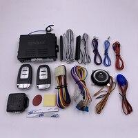 Owo Maneira Sistema de Alarme de Carro com o Arranque Do Motor LCD Controle Remoto Key Fob Caso Para NQ ST9003 B9 com capa de silicone|Sistema de arranque sem chave| |  -