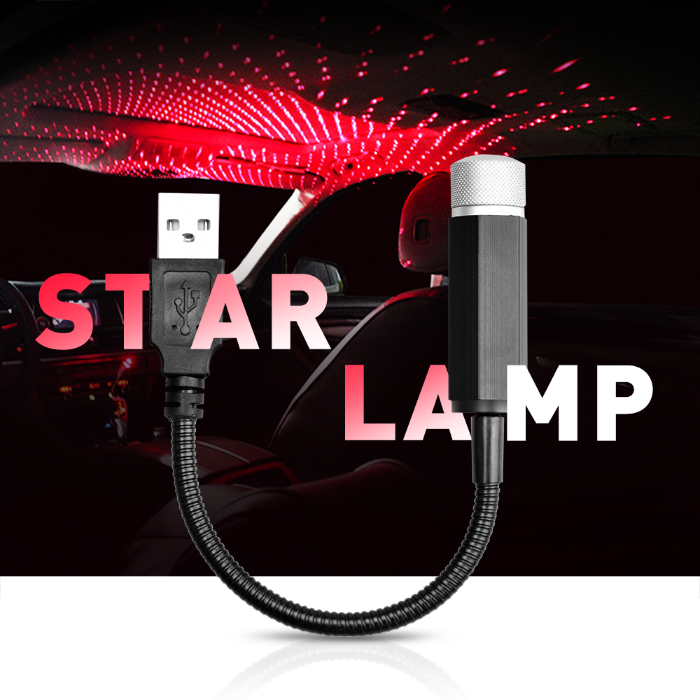 Car Atmosphere Lamp Starry Sky Night Light For Mercedes Benz W221 W210 W212 W203 W205 W124 <font><b>W163</b></font> A C E SLK GLK Projector Light image