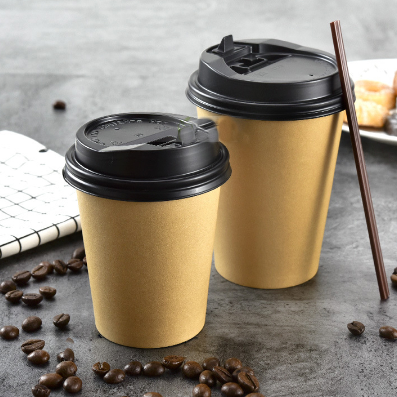 12oz 400ml Disposable Coffee Paper Cup With Coffee Stir Bar&Cover