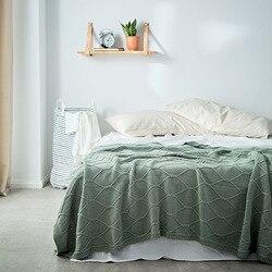 130X180 см, Новое Стильное хлопковое вязаное одеяло, покрывало для дивана, покрывало с нитью, повседневное одеяло, домашнее мягкое украшение