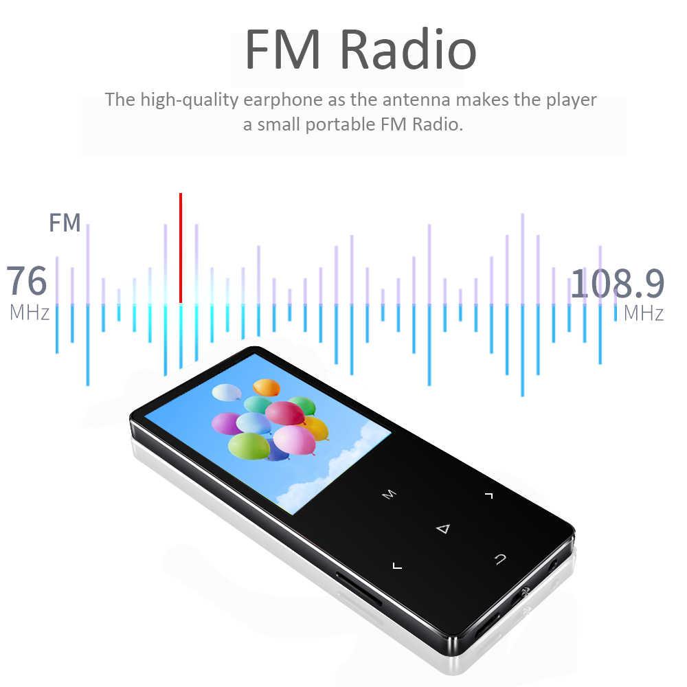 مشغل MP4 من REDANT مع سماعة بلوتوث مدمجة مفتاح لمس راديو FM تشغيل الفيديو الكتاب الإلكتروني ، HIFI معدن MP 4 مشغل موسيقى 8G 16G 32GB