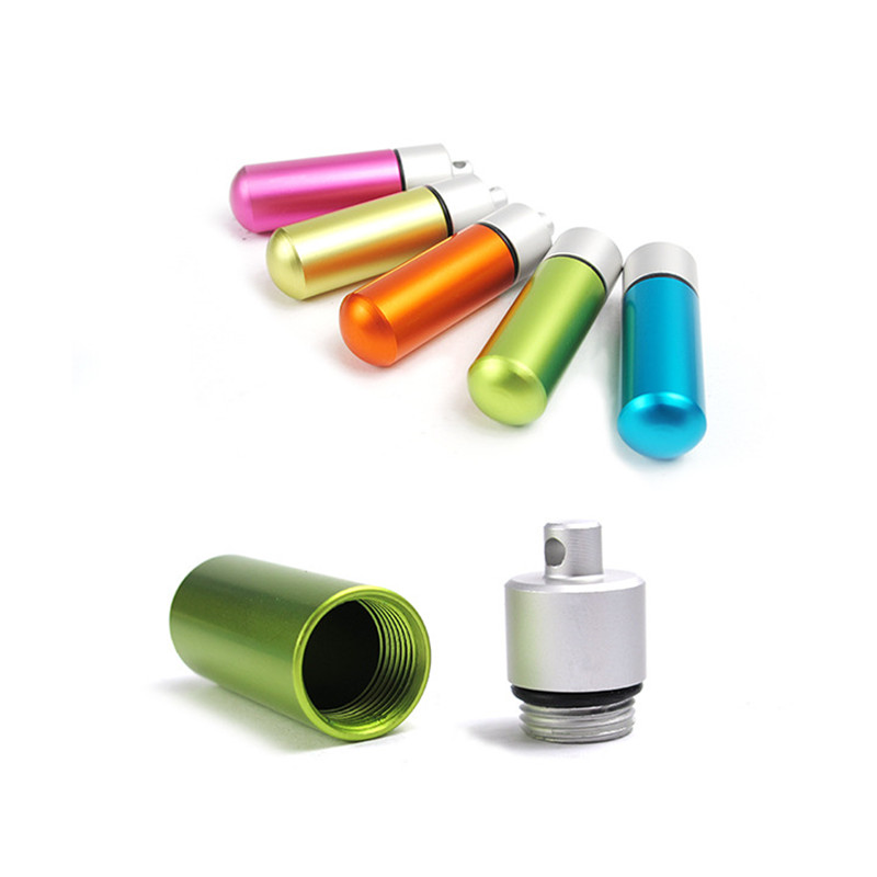 Mini Outdoor Safety Rescue Aluminum Alloy Medicine Bottle Pill Holder Camping Climbing Hiking Travel Rescue EDC Tools