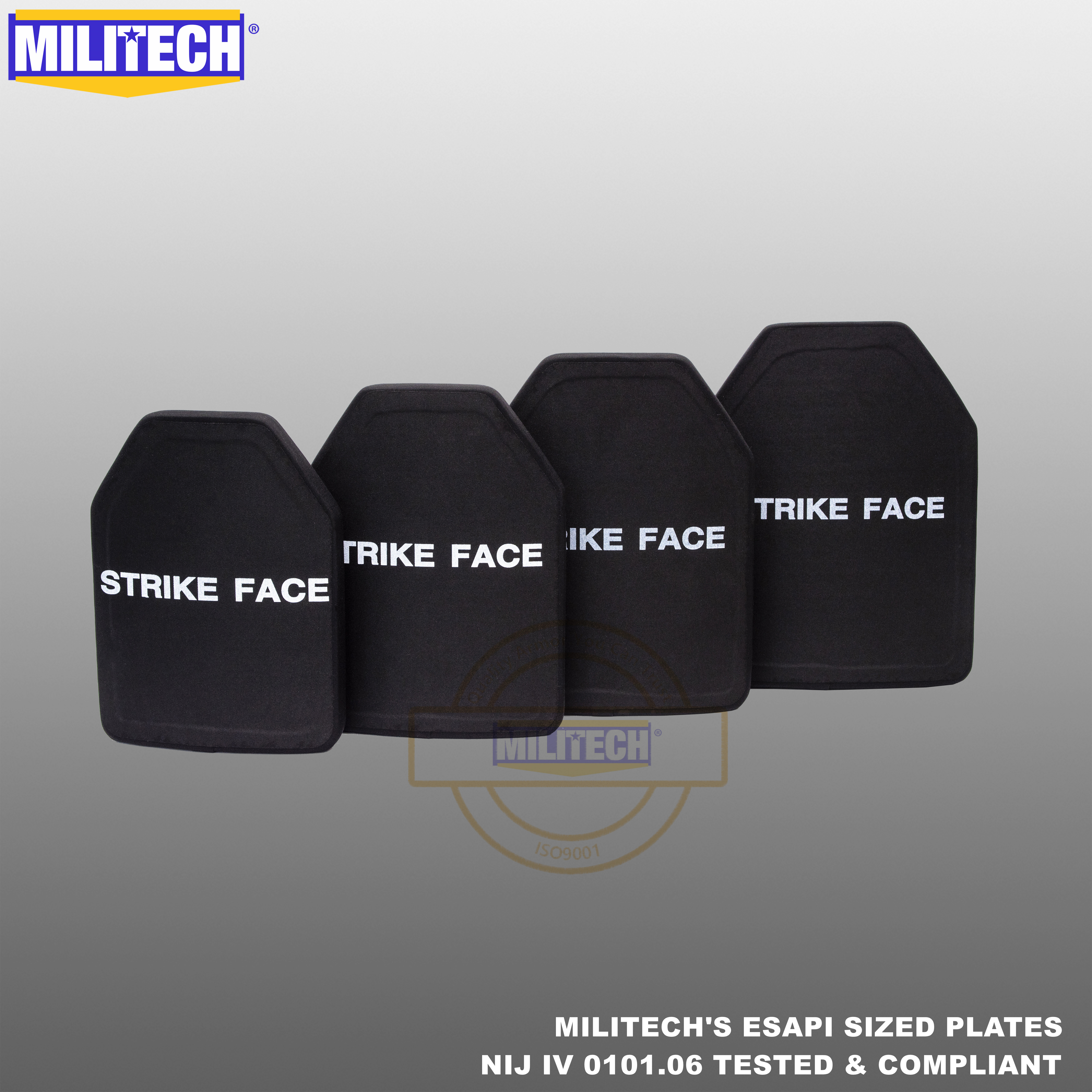ESAPI Bulletproof Plate Ballistic Panel NIJ Level 4 IV Alumina & PE Stand Alone From Size S To XL Body Armor One(1) PC--Militech