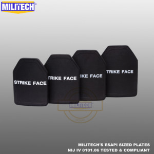 ESAPI Bulletproof Plate Ballistic Panel NIJ level 4 IV Alumina & PE Stand Alone From Size S to XL Body Armor One(1) PC--Militech