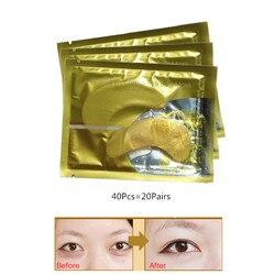 40 шт./лот InniCare натуральная кристальная коллагеновая Золотая пудра маска для глаз, антивозрастной уход за лицом уход за кожей патчи для глаз ...