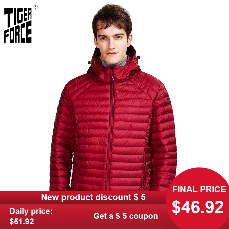 Jacket Parkas Spring Tiger-Force Male Hidden Outerwear Hood Zippers Men Casual High-Fashion title=