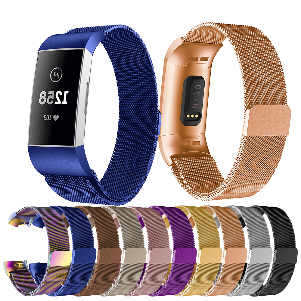 For Fitbit Charge 4 Milanese Strap For Fitbit Charge 4 Fashion Watch Women's Bracelet Classic Watch Strap Wrist Band Accessories