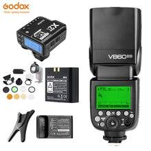 Godox V860II V860IIN TTL HSS Li-Ion Batterie Speedlite Flash Mit X2T-N Trigger Sender AK-R1 Diffusor für Nikon SLR Kamera